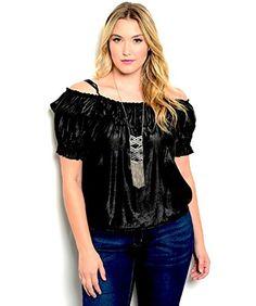 Zenobia Women's Peasant Top Plus Size Solid Black Off Sho... http://www.amazon.com/dp/B01D5AP9ZM/ref=cm_sw_r_pi_dp_Vfdvxb18NA0ZH