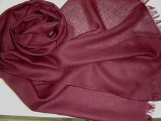 Schals - Wollschal Merinoschal weinrot marsala - ein Designerstück von textilkreativhof bei DaWanda