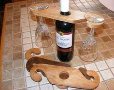 Porta vino y cristal con participación por GrandpasWoodCrafting