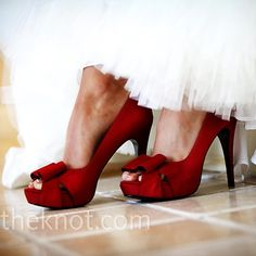 Red wedding shoes!