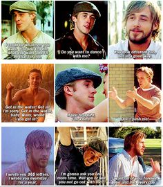 hahahhaa omgsh can't get enough of Ryan Gosling #TheNotebook #Quotes