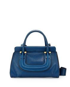 Everston Medium Double Satchel Bag, Cobalt by Chloe at Neiman Marcus.