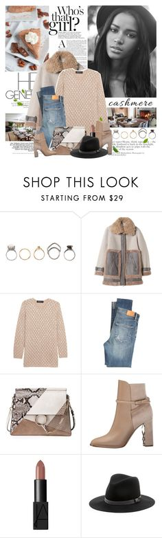 """""""Cozy Cashmere Sweaters"""" by mars ❤ liked on Polyvore featuring Iosselliani, Pringle of Scotland, Citizens of Humanity, Chloé, Burberry, NARS Cosmetics and Sole Society"""