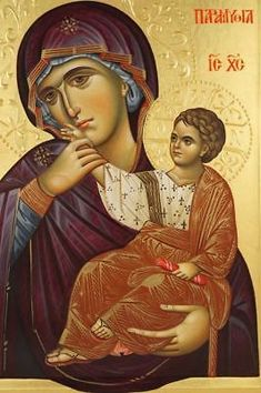 High quality hand-painted Orthodox icon of Panagia Paramythia. BlessedMart offers Religious icons in old Byzantine, Greek, Russian and Catholic style. Byzantine Icons, Byzantine Art, Religious Icons, Religious Art, Architecture Religieuse, Greek Icons, Church Icon, Paint Icon, Madonna And Child