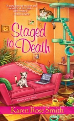 Staged To Death (Caprice De Luca Mystery Series #1)  by Karen Rose Smith   Publication Date:  December 3 2013.  NEW SERIES. Caprice DeLuca stages houses for high-end clients. When she discovers a body in the castle-mansion she staged to sell and starts asking questions, she finds herself in…