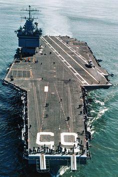 USS Enterprise CVN-65 Flight Deck View.