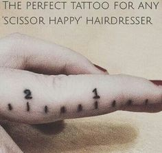 Perfect tattoo for any hairdresser