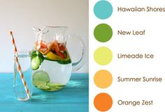May 2015 Color Play: Hawaiian Shores, New Leaf, Limeade Ice, Summer Sunrise, and Orange Zest