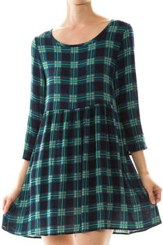Plaid Print Flared Dress | Southern Grace Outfitters http://southerngraceoutfitters.com/products/plaid-print-flared-dress