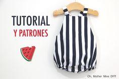 DIY Coser Peto Marinero para bebe (patrones gratis)