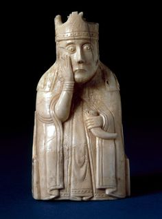 CHESS: A piece from the Lewis chess set, found on the Isle of Lewis, before 11 April 1831 acquired by the British Museum between November 1831 and January Medieval Games, Medieval Art, Medieval Life, Statue Art, Statues, Kings Game, The Cloisters, Chess Pieces, Ancient Artifacts