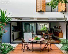 Residence in Sao Paulo, Brazil, by Maria Cristina Martini e Suzana Barboza Tropical Architecture, Interior Architecture, Outdoor Spaces, Outdoor Living, Outdoor Decor, Porches, Patio Interior, Dream Decor, My Dream Home