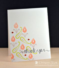 By Chunyuan Wu for Avery Elle using Ikat Additions and Oh Happy Day stamp sets.