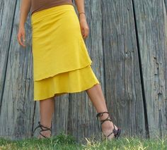 Organic Double Layer Below Knee Skirt (light hemp/organic cotton blend) by gaiaconceptions on Etsy https://www.etsy.com/listing/61687573/organic-double-layer-below-knee-skirt