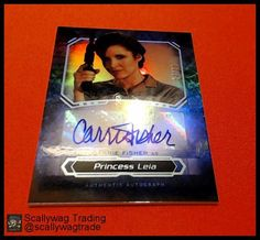 Carrie Fisher Princess Leia Autograph Auto Foil 2016 Topps Star Wars Masterwork