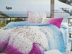 3D Designed Bedsheet  Give a floral appeal to your bedroom decor with this bed sheet set.