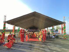 Nhà bạt tại Lễ khởi công khu II thuộc Khu đô thị Phú Cường
