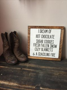 Rustic Sign Wood Framed Sign Hot Chocolate - Snow - Cozy Blankets - Rustic Home Decor - Farmhouse Decor Handmade Fire by on Etsy Rustic Signs, Rustic Decor, Farmhouse Decor, Wooden Signs, Farmhouse Signs, Country Decor, Rustic Wood, Diy Wood, Fall Home Decor