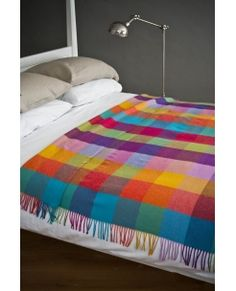 Lambswool Throw Circus. Woven in our Mill in Avoca Village, Wicklow, Ireland.