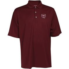 Antigua Men's Missouri State University Exceed Polo Shirt (Red Dark, Size X Large) - NCAA Licensed Product, NCAA Men's Jersey/Polos at Academy Sports