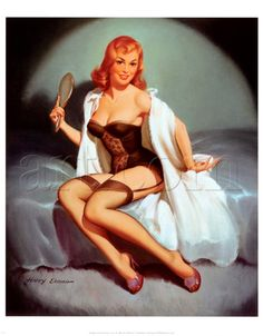 Red headed pinup