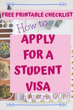 Are you considering studying in Austria or Europe? What do you need for your visa? These are the 8 top things you need to do to apply for your student visa. So you can prepare with time for your visa application. Passport Number, Going Back To College, Acceptance Letter, Learn German, Learn A New Language, Birth Certificate, Do Everything, Feeling Overwhelmed, Study Abroad