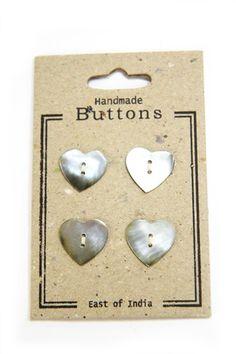 Heart Shell Buttons