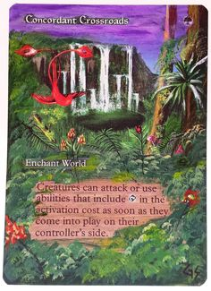 MTG Altered Art Concordant Crossroads Hand Painted Full Art OOAK Magic Card #WizardsoftheCoast :~)