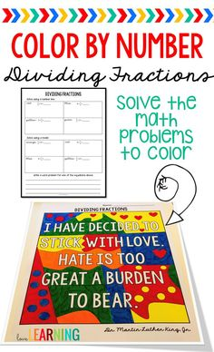 This activity incorporates division of unit fractions, coloring, and Dr. It is a perfect addition to your math unit! Students divide the fractions in order to color the picture in pop art style. The sheet includes dividing unit fr Teaching Fractions, Teaching Math, Teaching Ideas, Dividing Fractions, I Love Math, Fun Math, Effective Classroom Management, 5th Grade Teachers, Fifth Grade Math