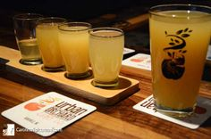 Enjoy an Urban Orchard Cider Co. tasting flight ... fresh, natural, locally grown and made ... on Haywood Rd. in West Asheville