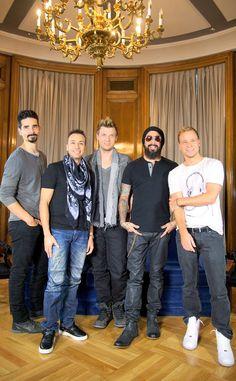 Los Backstreet Boys posaron muy felices para esta foto durante la promoción de su nuevo álbum en Madrid