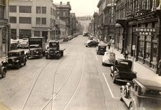 SW 1st Avenue, looking south towards Stark St.  circa 1939