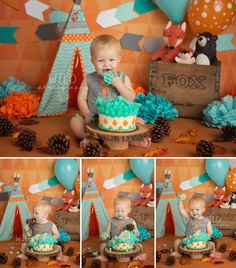 Brooks Cake Smash Collage FB