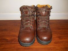 """Timberland Pro 6"""" Titan Safety Toe PowerFit Brown Leather Mens 9.5 M"""