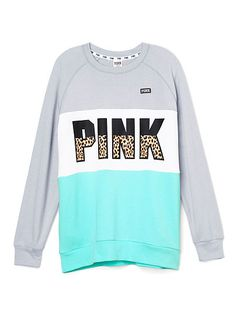 Gray, white, and mint PINK sweater Victoria Secret Outfits, Victoria Secret Lingerie, Victoria Secret Pink, Pink Outfits, Mode Outfits, Casual Outfits, Pink Accessories, Pink Brand, Pink Nation