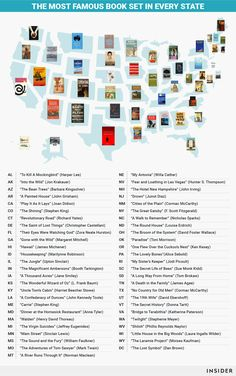 From California to Illinois to New York, these are the most famous books that take place in every state in America.