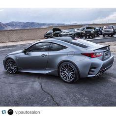 Lexus RC 350 F Sport wrapped in  938 matte graphite lowered on @rsrusa Down Springs and sitting on @vossen VFS2.  ______________________________________  #lexus #lexususa #lexusrc #fs
