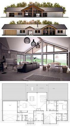 Container House - Like the layout. Seems good use of space and two living areas. House Plan - Who Else Wants Simple Step-By-Step Plans To Design And Build A Container Home From Scratch? Barn House Plans, New House Plans, Dream House Plans, Modern House Plans, Small House Plans, House Floor Plans, Open Plan House, Pole Barn Homes Plans, Metal House Plans