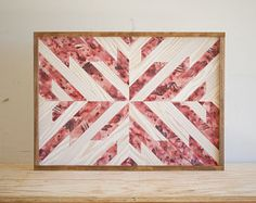 """Made in Texas. Wood Wall Art - 29"""" x 21"""" x 1.5"""" - Maroon and White"""