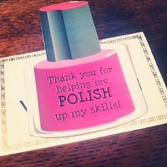 Pinning With Mrs Pennington Pun Thank You Gift Can Use On A Salon Card Or Nail Polish