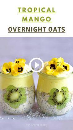 Oats Recipes, Baby Food Recipes, Cooking Recipes, Dinner Recipes, Healthy Breakfast Recipes, Healthy Snacks, Healthy Recipes, Overnight Oats Receita, Overnight Oats Simple