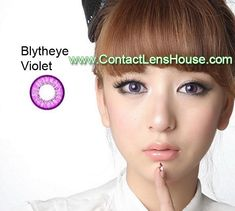 Blytheye Violet color circle lens. Korean cosmetic lenses.  We Ship Worldwide | Shop @ ContactLensHouse.com