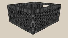 Large preview of 3D Model of BRANAS black 16 Model Sketch, Modelos 3d, 3d Warehouse, Wicker, Basket, Interior Design, Box, Sketchup Models, Black