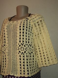 Blusa feita com linha 100% algodão, feita na cor desejada