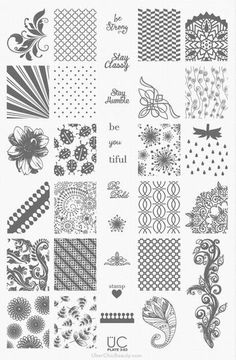 UberChic Beauty Nail Stamp Plates: Collection 3 Plate UC 3-03 - Need easy nail art ideas? Try nail stamping! It's easy AND affordable - plus you can reuse it time and time again! Where Jamberry is a one time use - these you can use over and over with any color you'd like! Nail stamping is so much fun! I love it!!!