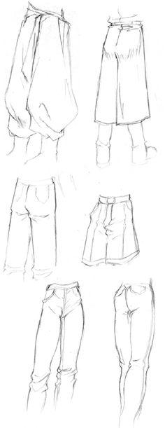 Como Desenhar Roupas de Mangá (Inglês) | Trousers | Curtain