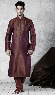 G3 fashions Thrilling Burgundy Jacquard Sherwani  Product Code : G3-MSH10000022 Price : INR RS 7982