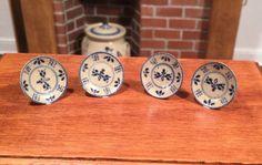 Dollhouse Miniature Artisan Signed Jane Graber Set Of 4 Plates | eBay