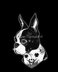 Tattooed Boston Terrier Boston Terrier Tattoo, Boston Terrier Dog, Terrier Dogs, Animal Tatoos, Boston Art, Dog Nails, American Dog, Bulldog Frances, Dog Tattoos