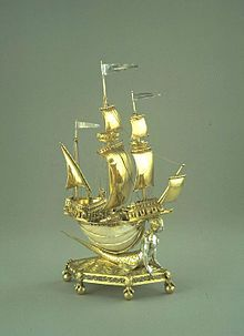 Nef (metalwork) - The Burghley Nef, silver-gilt (with sections ungilded), and nautilus shell, France, V&A Museum Science Projects For Kids, Science For Kids, Diy Projects, Kallax, Diy Wall Decor, Diy Home Decor, Diy Suspension, Leelah Loves, V & A Museum
